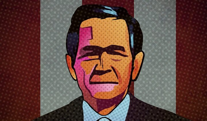 George W. Bush, first to use 'war on terror' terminology